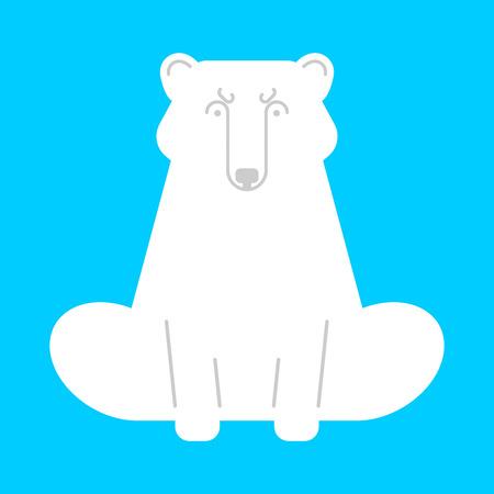 Polar bear isolated. Wild predator. Vector illustration