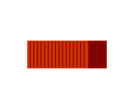 Cargo container red isolated. Transportation of goods Vector illustration.  Illustration
