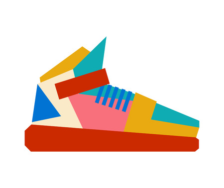 Sneakers isolated. Sports fashion shoes. Vector illustration.