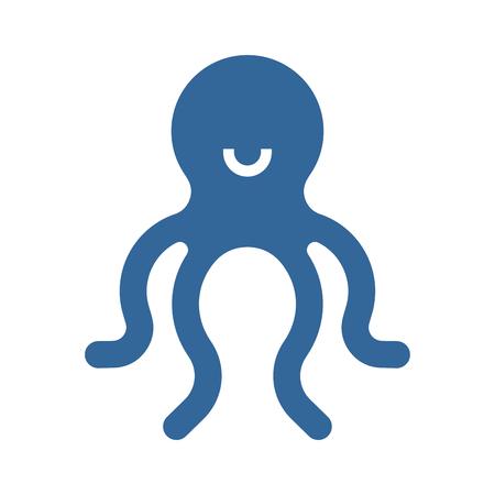 Octopus sign icon. Poulpe symbol. Sea animal Vector illustration
