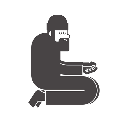 Homeless icon. Beggars sign. Poor symbol. bum hobo Vector illustration
