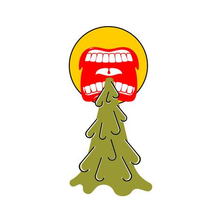 Vomit face emoji. Puke Vector illustration. Retching cartoon. Vomitus Stock Illustratie