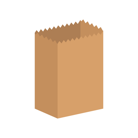 Paper bag isolated. Ecological packaging. Vector illustration Illustration