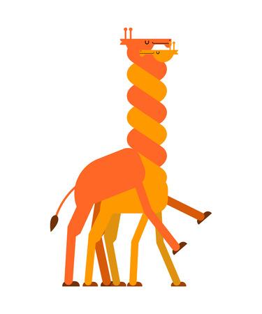 Giraffe sex. Love Giraffes intercourse. Animal reproduction. Africa beast Long neck