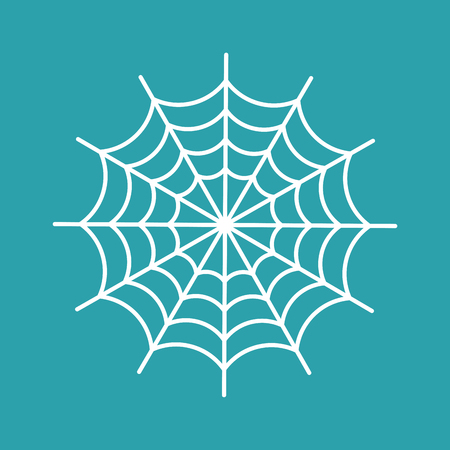 Spider web isolated. cobweb Halloween vector illustration. Spiderweb