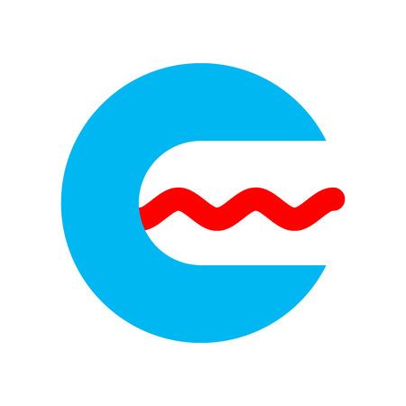 Speech therapist logo sign. speech pathologist symbol. Open mouth and tongue Illustration