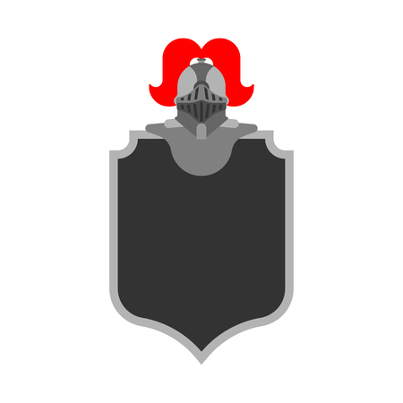 Knight Helmet Heraldic Shield. Template heraldry design element. Coat of arms of royal family