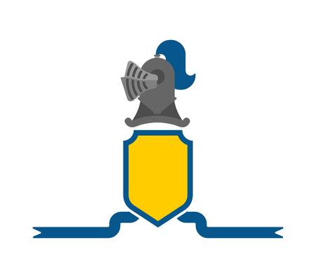 Knight Helmet Heraldic Shield. Template heraldry design element. Coat of arms of royal family