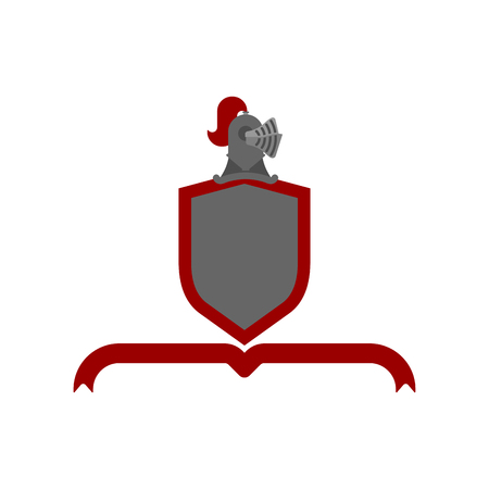 Knight Helmet Heraldic Shield. Template heraldry design element. Coat of arms of royal family Imagens - 127697694
