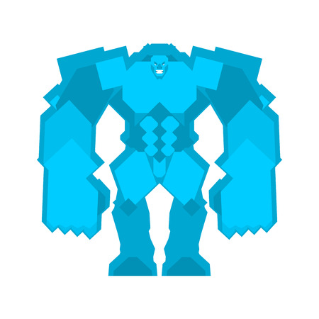 Golem Ice isolated. Fantastic Magic Big Monster
