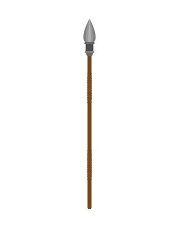 Spear isolated. pole weapons. lance isolated. Battle shaft  Illustration