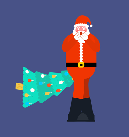 Santa Christmas tree in ass. Fucking christmas.  Hate Xmas       Ilustração