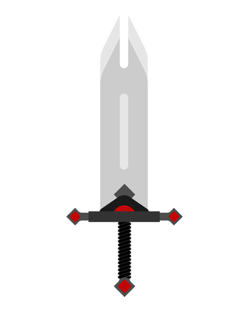 Barbarian Sword isolated. glaive warrior. Ancient blade saber. Slashing weapon Knight vector illustration