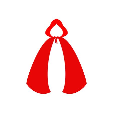 Czerwone płaszcze szablon na białym tle. Ubrania Czerwonego Kapturka