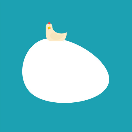 Chicken and big egg isolated. hen and large egg Vector illustration