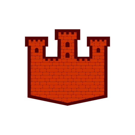 Fortress sign icon. Castle Tower symbol. Old outpost icon