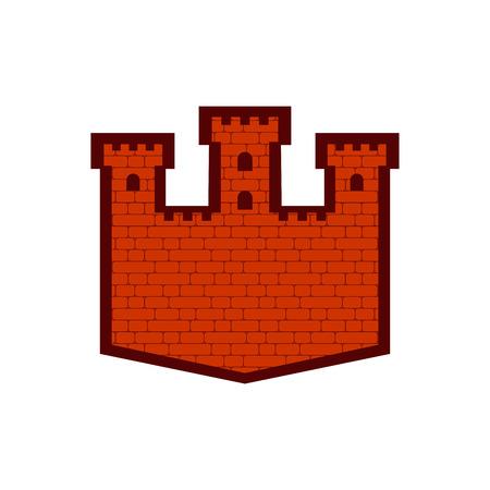 Icône de signe de forteresse. Symbole de la tour du château. Icône de l'ancien avant-poste