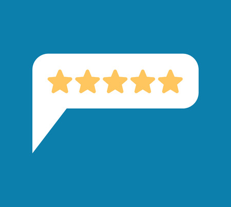 Rating 5. Feedback Five Stars Bubble. Recommendations sign. Recall symbol Çizim