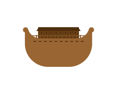 Ark isolated. Big ancient ship from Bible.