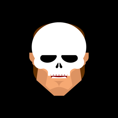 Man face in Skeleton Mask isolated. Vector illustration