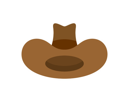 Cowboy hat isolated. western accessory. Wild west cap. vector illustration
