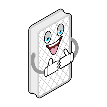 Sleeping mattress Thumbs up. Filling for bed. Vector illustration