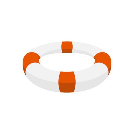lifebuoy isolated. afloat. Saving life on water