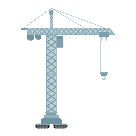 Lifting crane isolated. construction industrial. Vector illustration 일러스트