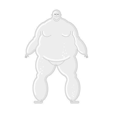 Glass Fat man isolated. fatso Vector illustration