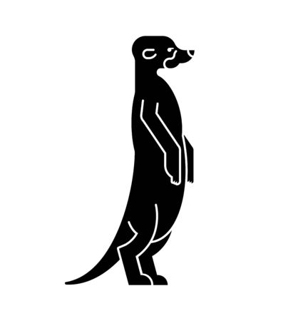Meerkat icon. Small mongoose sign. vector illustration
