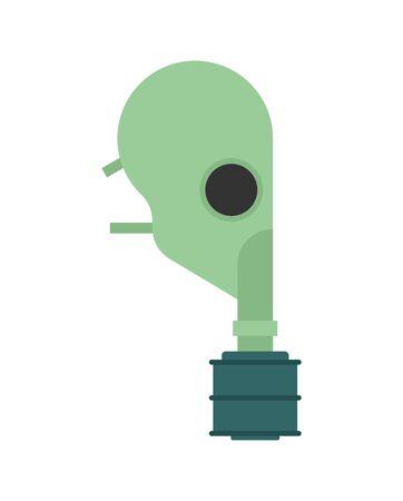 Military respirator isolated. Gas mask. vector illustration Ilustração