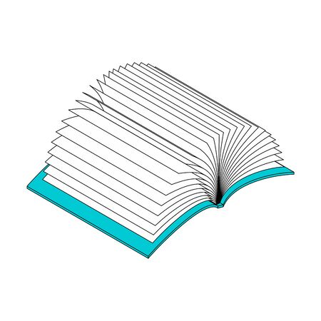 Open book many pages isolated. vector illustration  イラスト・ベクター素材