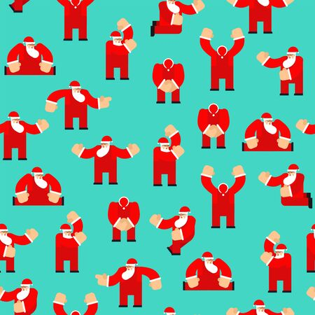 Santa Claus pattern seamless. Christmas background. New Year texture. Xmas ornament