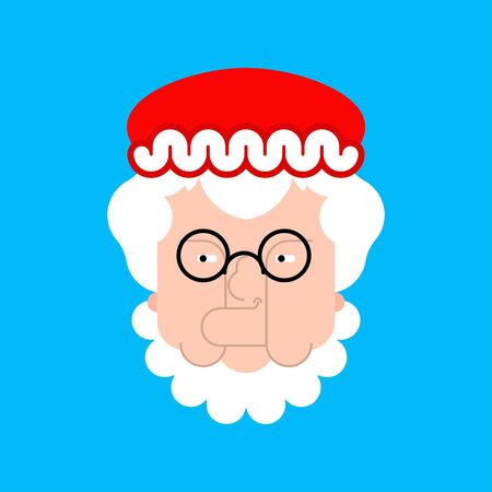 Mrs. Claus face isolated. Christmas and New. Vector illustration Ilustração