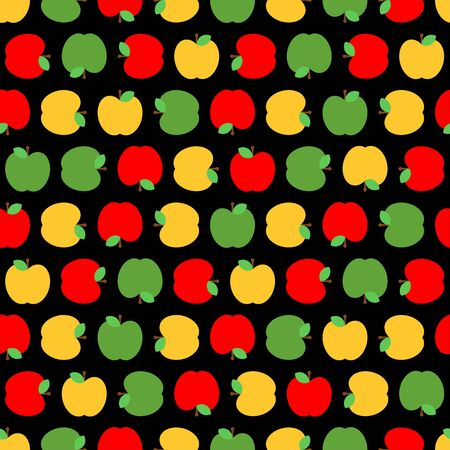 Apple pattern seamless. Fruit background. vector texture