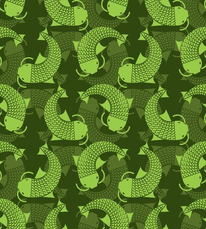 Fish green hunter pattern. Protective camouflage background. Military texture Foto de archivo - 136797930