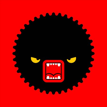 Stress sign. Hatred face monster concept. stressful situations. mental trauma Hater sign. Vector illustration Vector Illustration