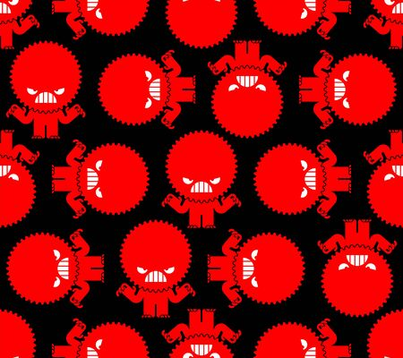 Stress Hatred face monster pattern seamless. stressful situations background. mental trauma Hater sign. Vector texture