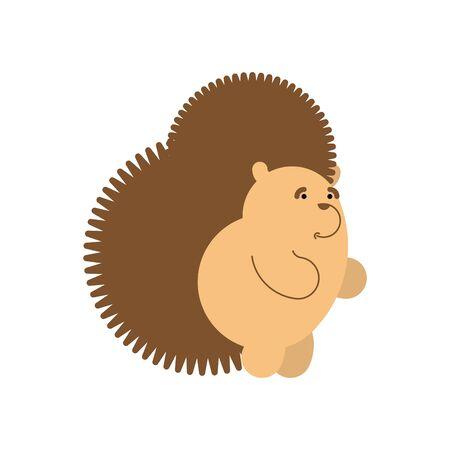 Hedgehog cartoon isolated. Little urchin vector illustration Çizim