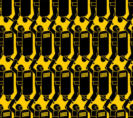 Riot police pattern seamless. Policemen with shields background