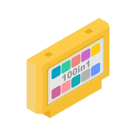 video game cartridge isolated. Retro TV game 8bit. 向量圖像
