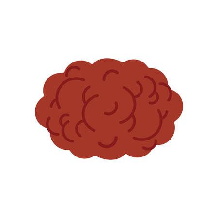 Meatball isolated cartoon. meatballs foot vector illustration 向量圖像