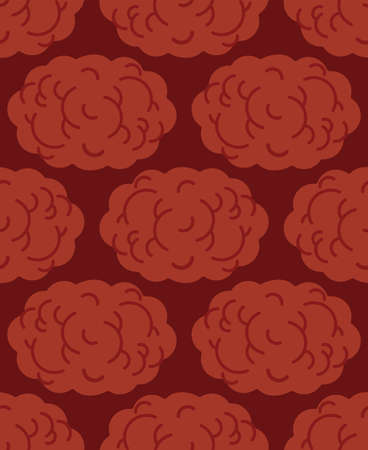 Meatball pattern seamless. meatballs background. vector texture
