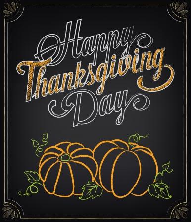 Tarjeta con elementos de época. Día de Acción de Gracias