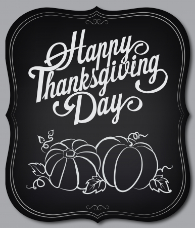 Card with vintage elements. Thanksgiving day Vector
