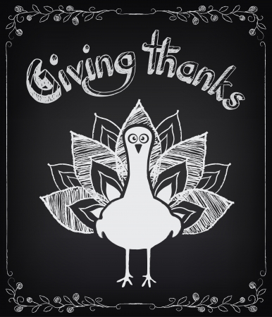 thanksgiving day: Card with vintage elements. Thanksgiving day