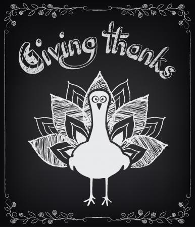 thanksgiving day symbol: Scheda con elementi d'epoca. Giorno del Ringraziamento
