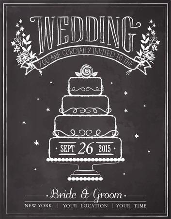 Hochzeitseinladungskarte mit floral background Standard-Bild - 45363604