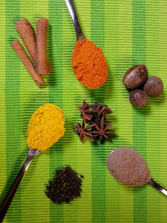 spacing: spices mood shot