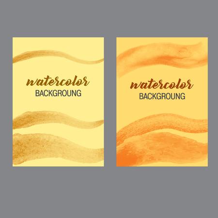 lia: Corporate identity watercolor background, yellow colors Illustration